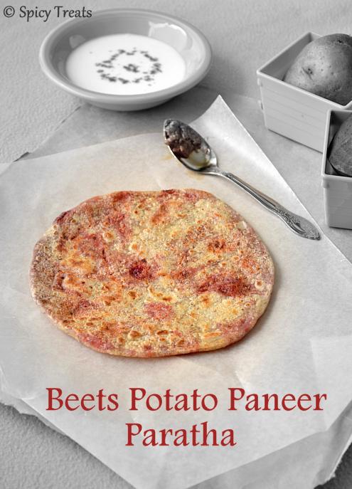 Aloo Beets Paneer Paratha