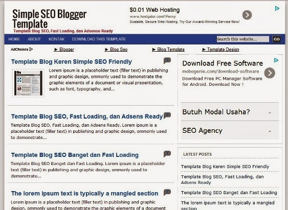 Simple SEO Blogger Template