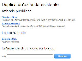 schermata duplicazione azienda LearnDoubleEntry.org