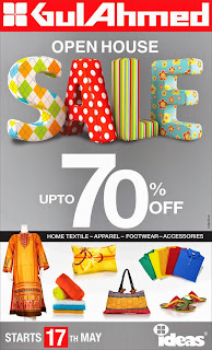 Gul Ahmed | Open House SALE upto 70% OFF | Home Textile - Apparel - Footwear - Accessories Starts 17th May in Pakistan