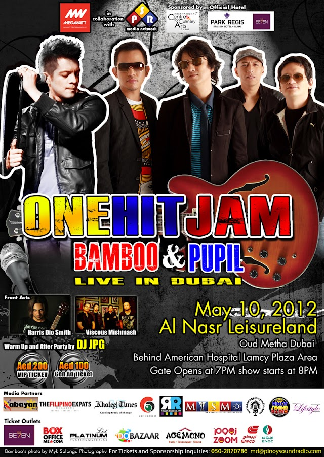 Filipino Rock icons Bamboo, Pupil to perform in Dubai for One Hit Jam Concert