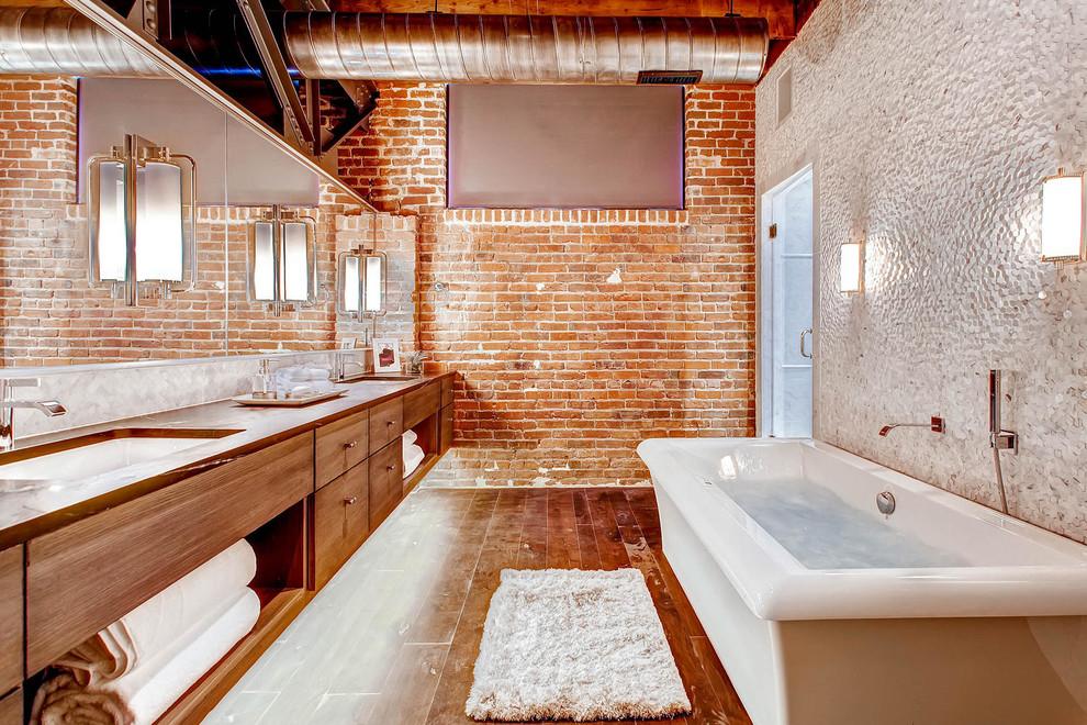 Id es d co influence d co industrielle pour une salle de for Salle de bain style ancien