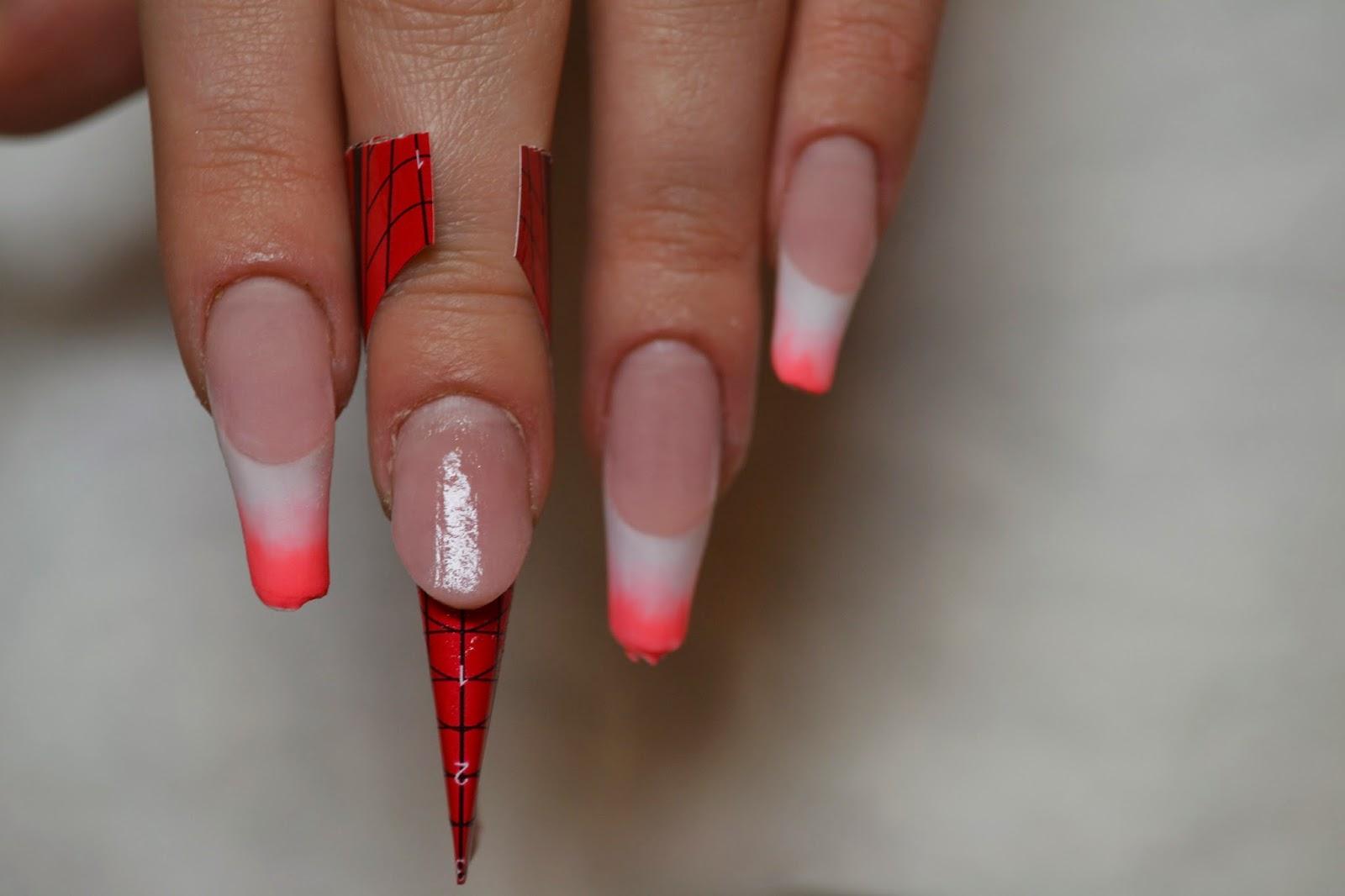 Фото ногтей френч с растяжкой