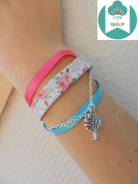 Coton et Création : bracelet ruban