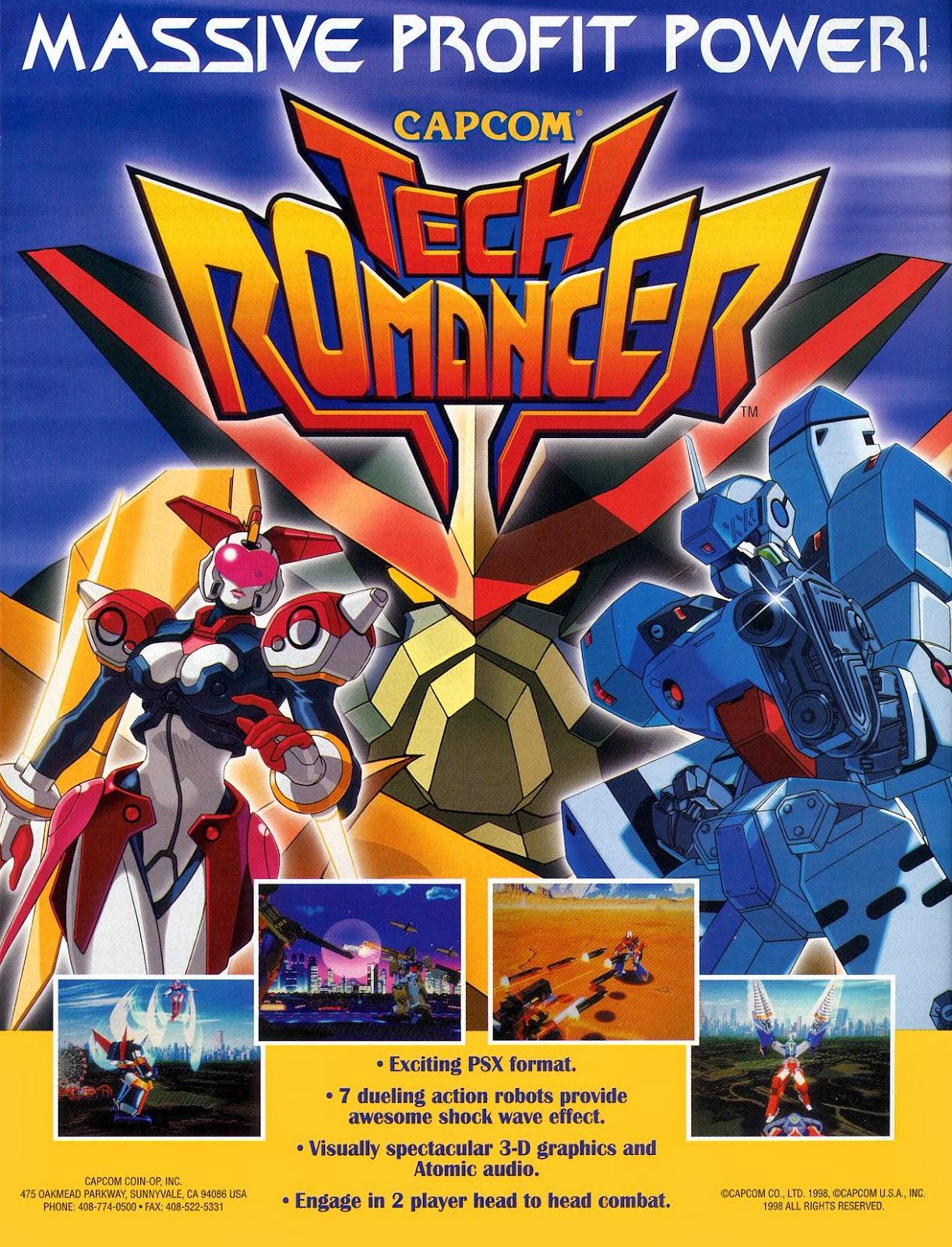Tech romancer arcade game portable
