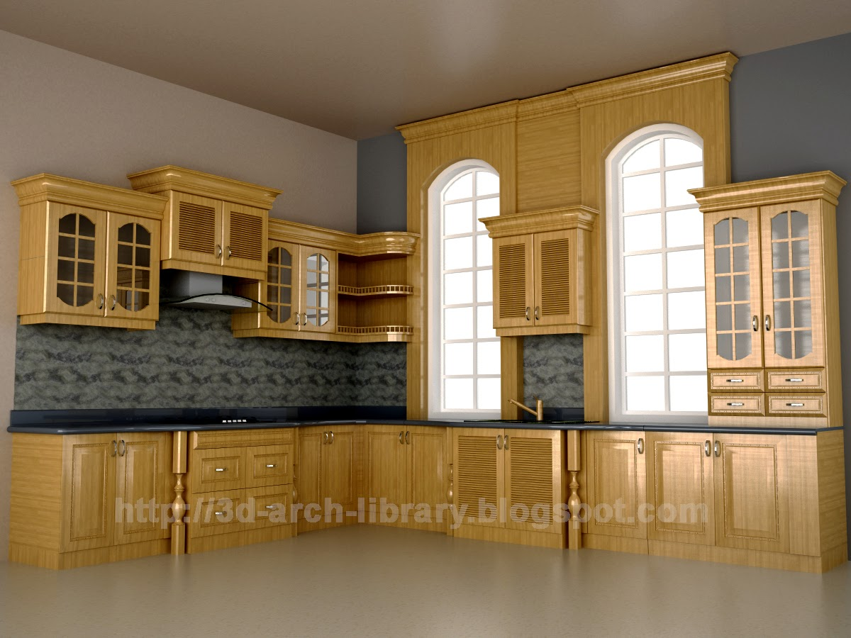 Kitchen Cabinets 001 (Interior) - Revit library (Text) | 3D Arch Library