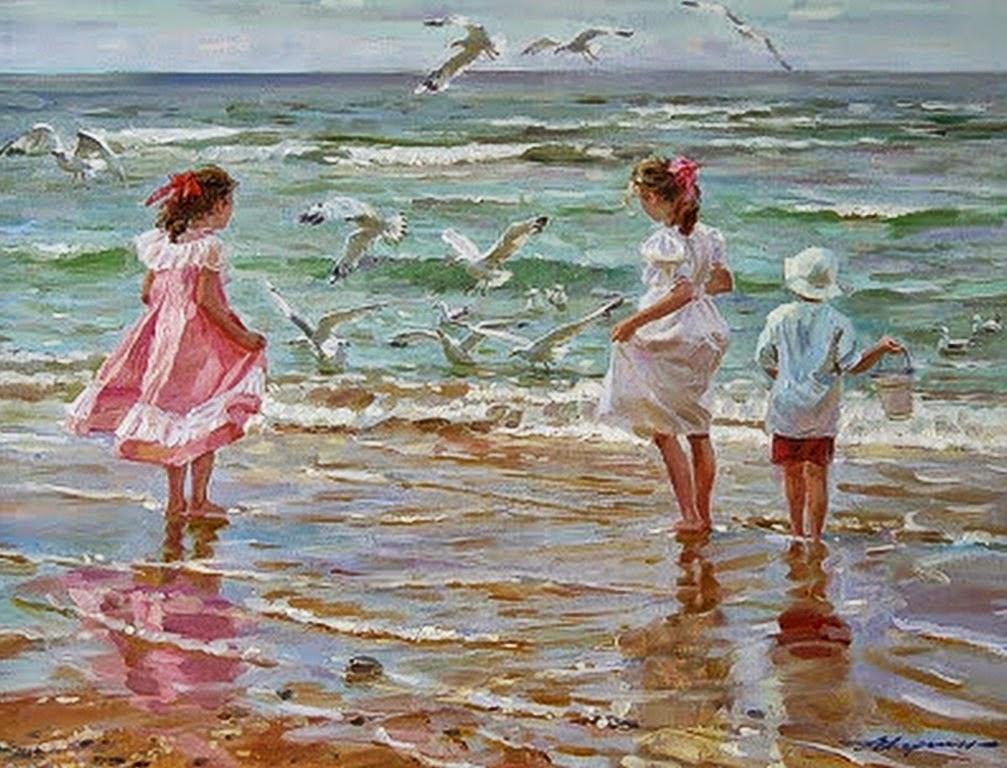 paisajes-marinos-con-mujeres-y-ninos