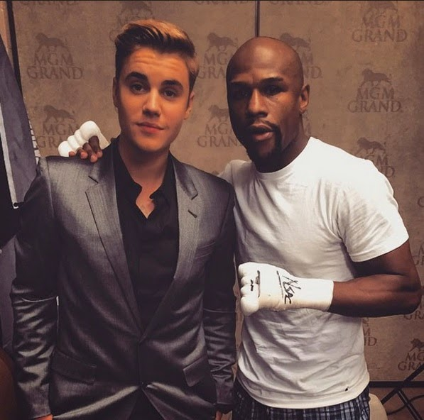 Justin Bieber at Mayweather VS Pacquiao
