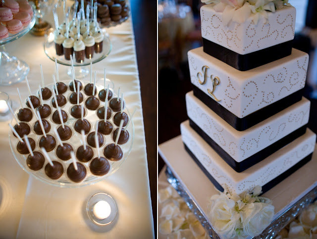 Wedding Cake Lollipops and 4 Tier Cake