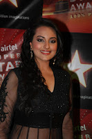 Bollywood and Tollywood hot and sexy acress Sonakshi, Sinha black transplant dress, gorgeous, sizzling, spicy, masala