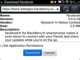 Facebook v3.0.0.14 for BlackBerry Available in Beta Zone