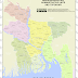Map of Bangladesh - Administrative units and Toponyms
