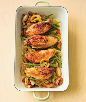 Pan Roasted Chicken with Lemon-Garlic Green Beans