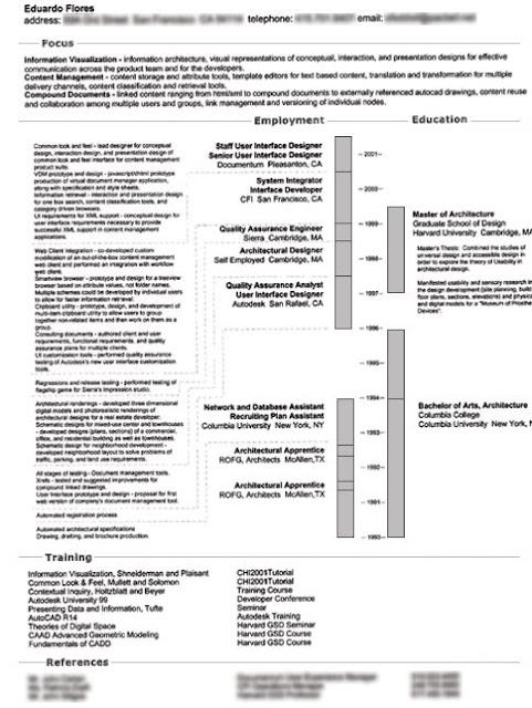Architecture Resume8