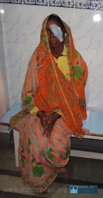 Cataract patients at Jagadguru Kripalu Ji Maharaj Charitable Hospital, Barsana Dham