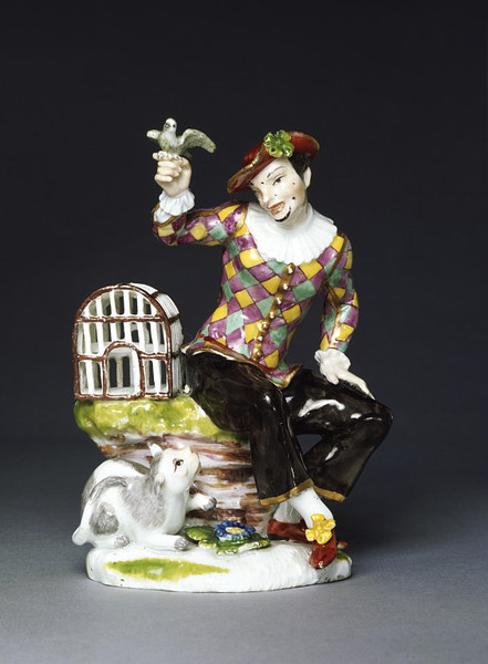 Commedia dell'Arte-inspired German porcelain figure from the V&A