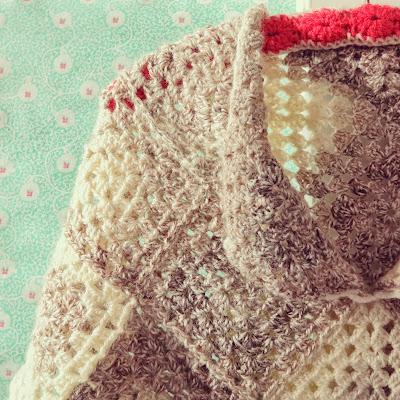 ByHaafner, crochet, poncho, granny square