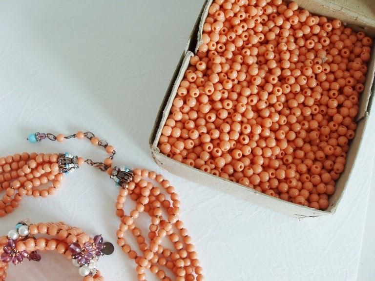 Perles ancien de verre