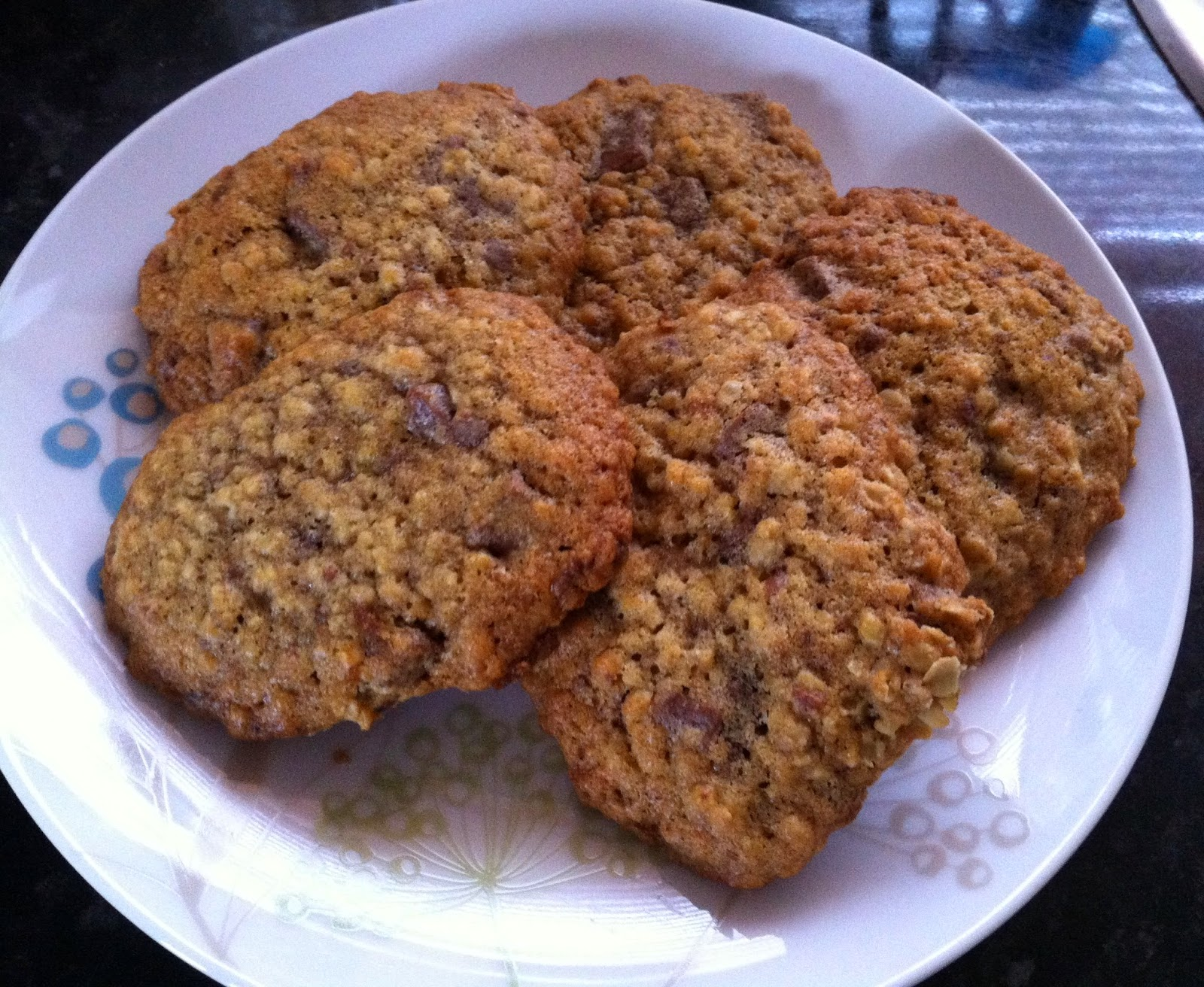 Oatmeal spice cookies, recipe from Green Card by Elizabeth Adams
