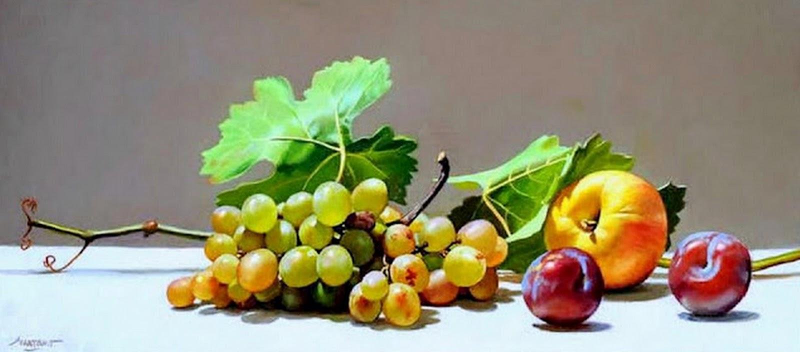 Cuadros pinturas oleos bodegones con frutas y flores - Fotos de bodegones de frutas ...