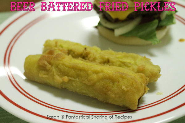Beer Battered Fried Pickles - an addictive appetizer perfect for game day.