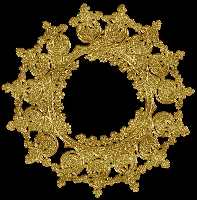 Encajes Dorados Arte Digital