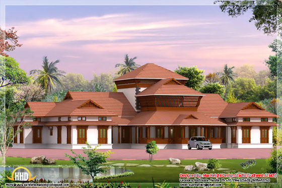 6800 square feet traditional Kerala home design