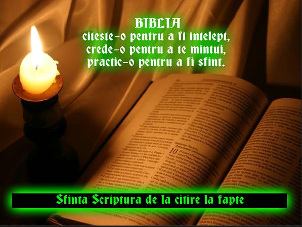 Citim Biblia cu toții ca să-L cunoaștem pe Hristos