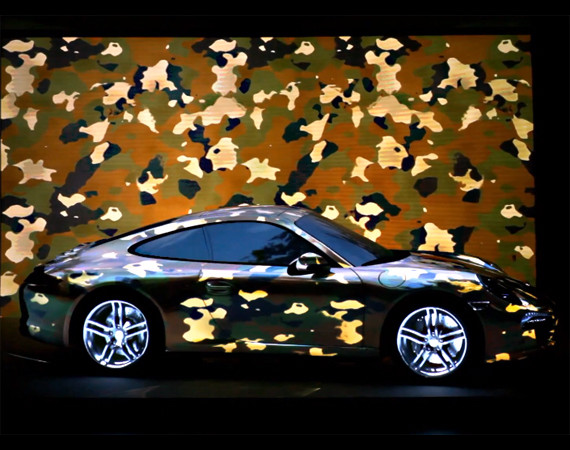 "PORSCHE 911 PROJECTION ( New  PORSCHE 911 Carrera 4S 2013 )  – ""MOTIONLESS DRIVING :"
