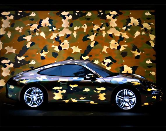 """PORSCHE 911 PROJECTION ( New  PORSCHE 911 Carrera 4S 2013 )  – """"MOTIONLESS DRIVING :"""