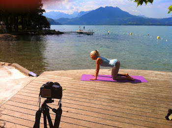 Filming by Lake Annecy