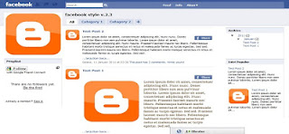 Template Blog Jejaring sosial Facebook