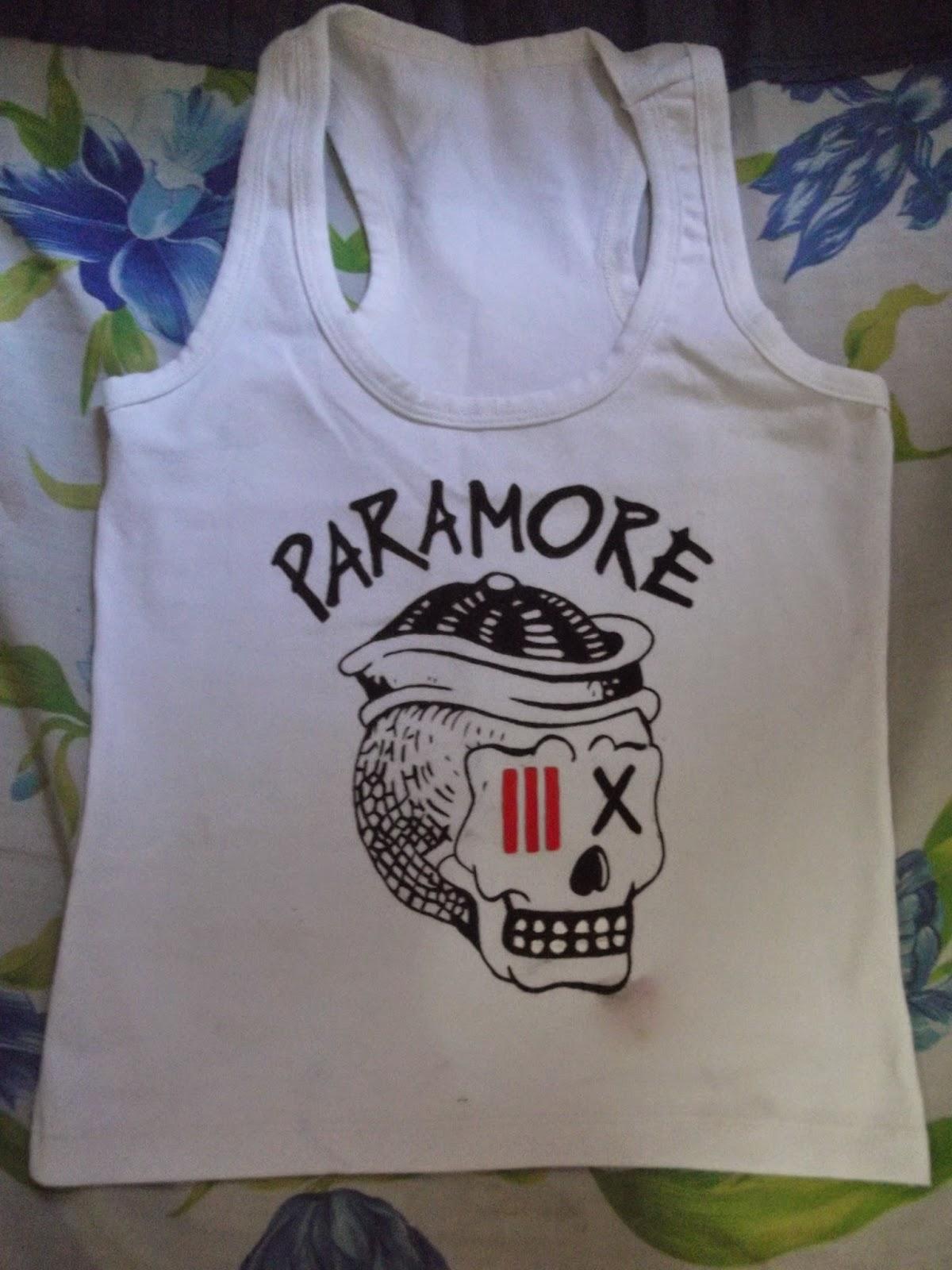 Nada de conto de fadas pintura em camiseta paramore - Pintura para camisetas ...