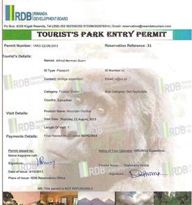 How to book a Rwanda Gorilla Permit