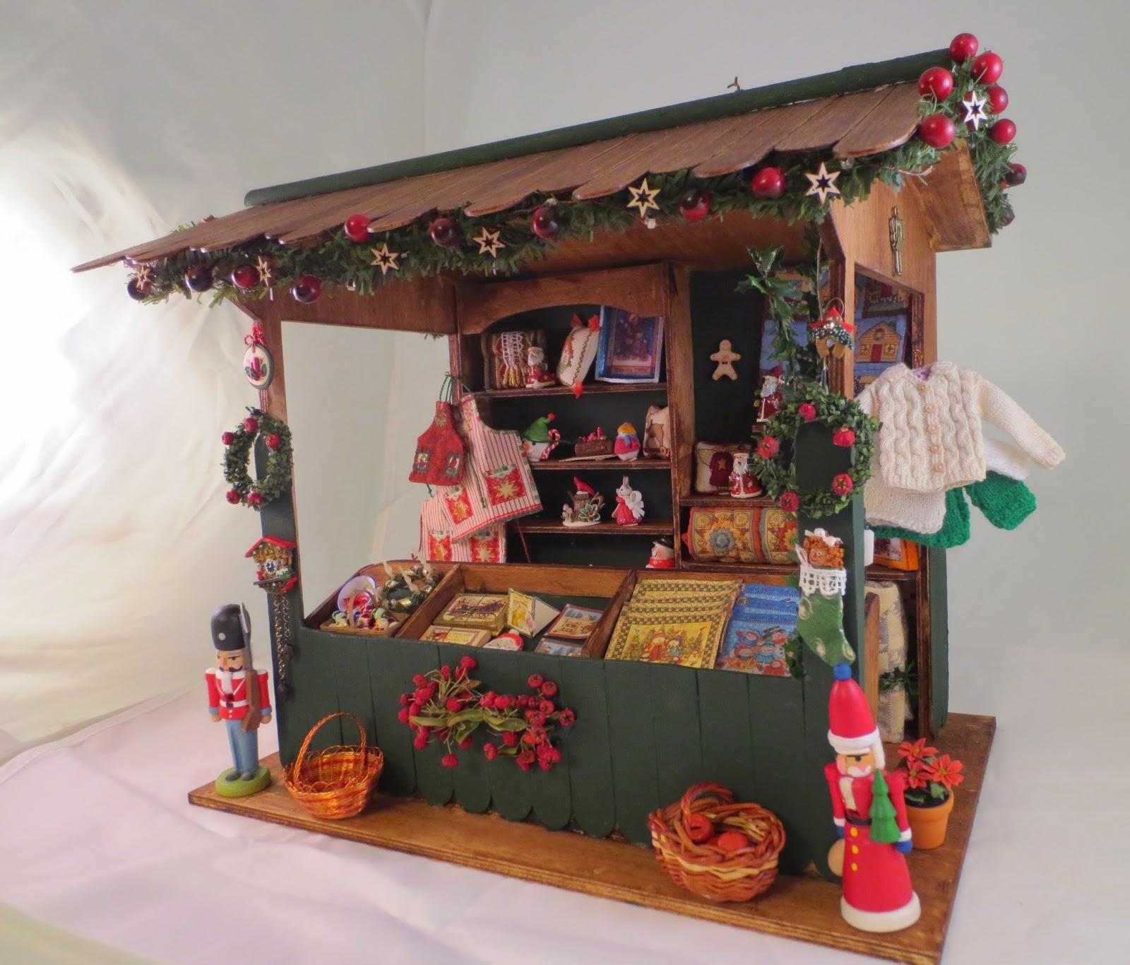 Blog Dolls Dollhouses Mas Detalles Mercadillo De Navidad Puesto