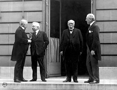 Traktat Wersalski i Wielka Czwórka - Lloyd George, Orlando, Clemenceau i Wilson