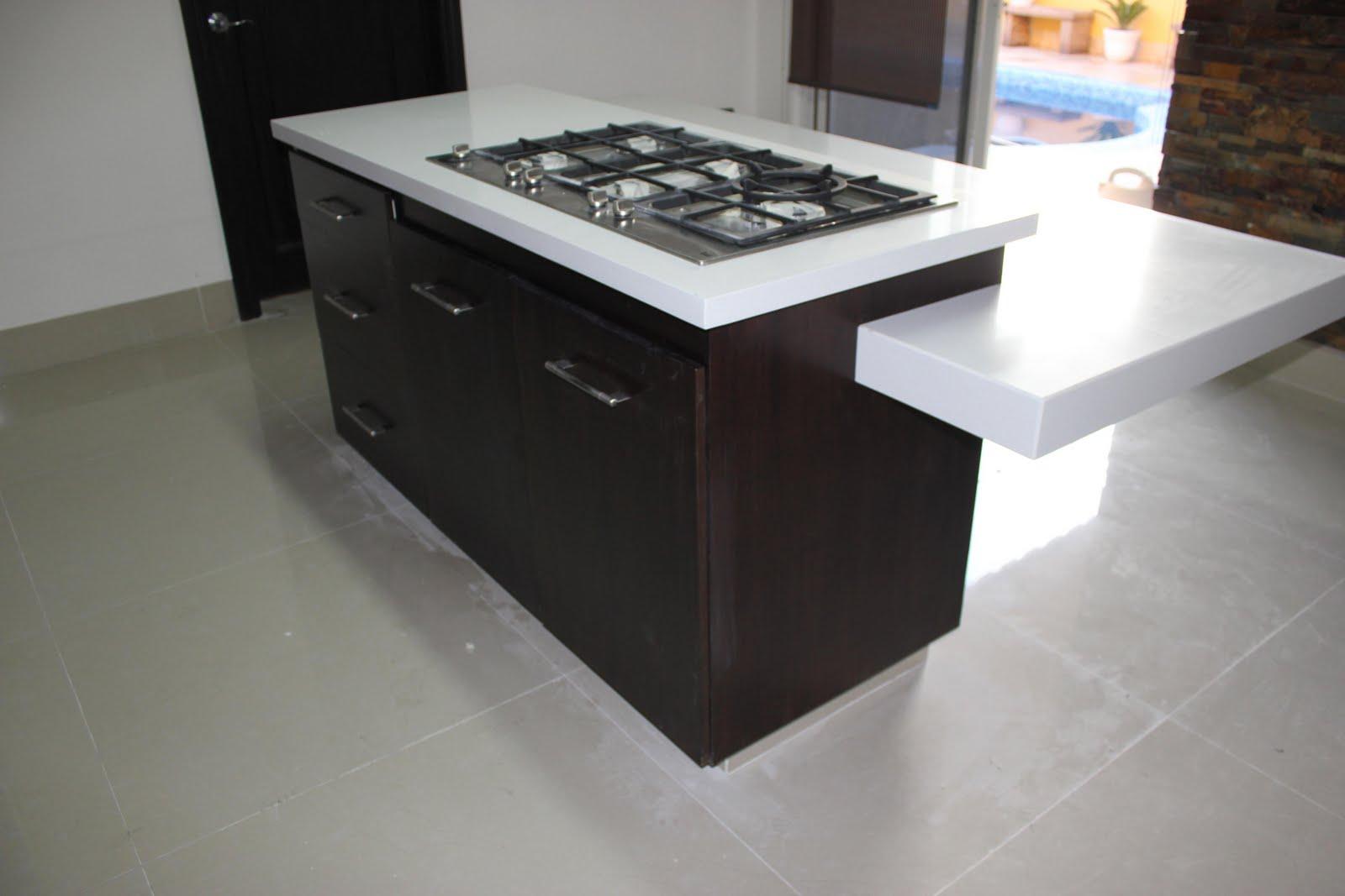 Formas en madera isla cocina integral for Cocinas integrales con isla al centro