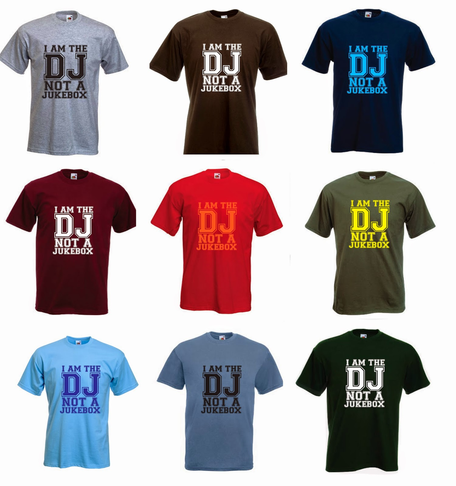 djs and music tshirts i am the dj not a jukebox. Black Bedroom Furniture Sets. Home Design Ideas