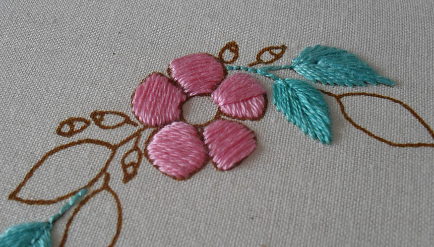 Padded Satin Stitch Embroidery Designs