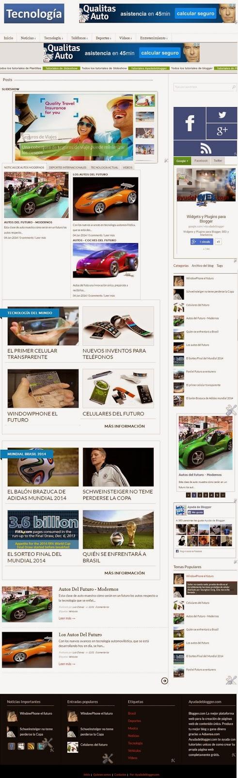 Plantillas Blogger – Línea Tecnología