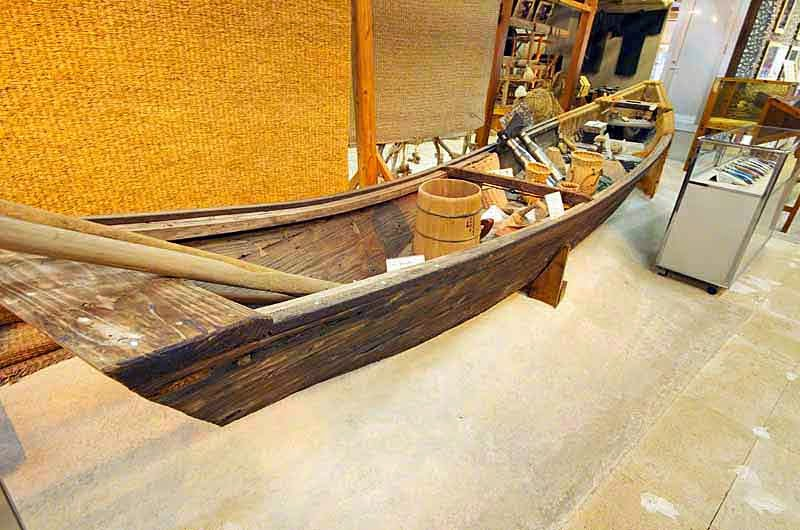 sabani boat, museum, fishing gear