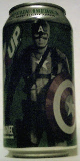 Left side of 7Up Captain America can