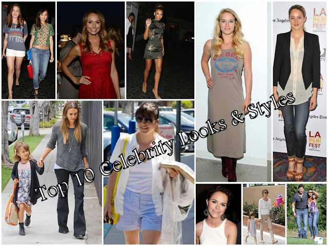 Top 10 Celebrity  Looks & Styles of The Week