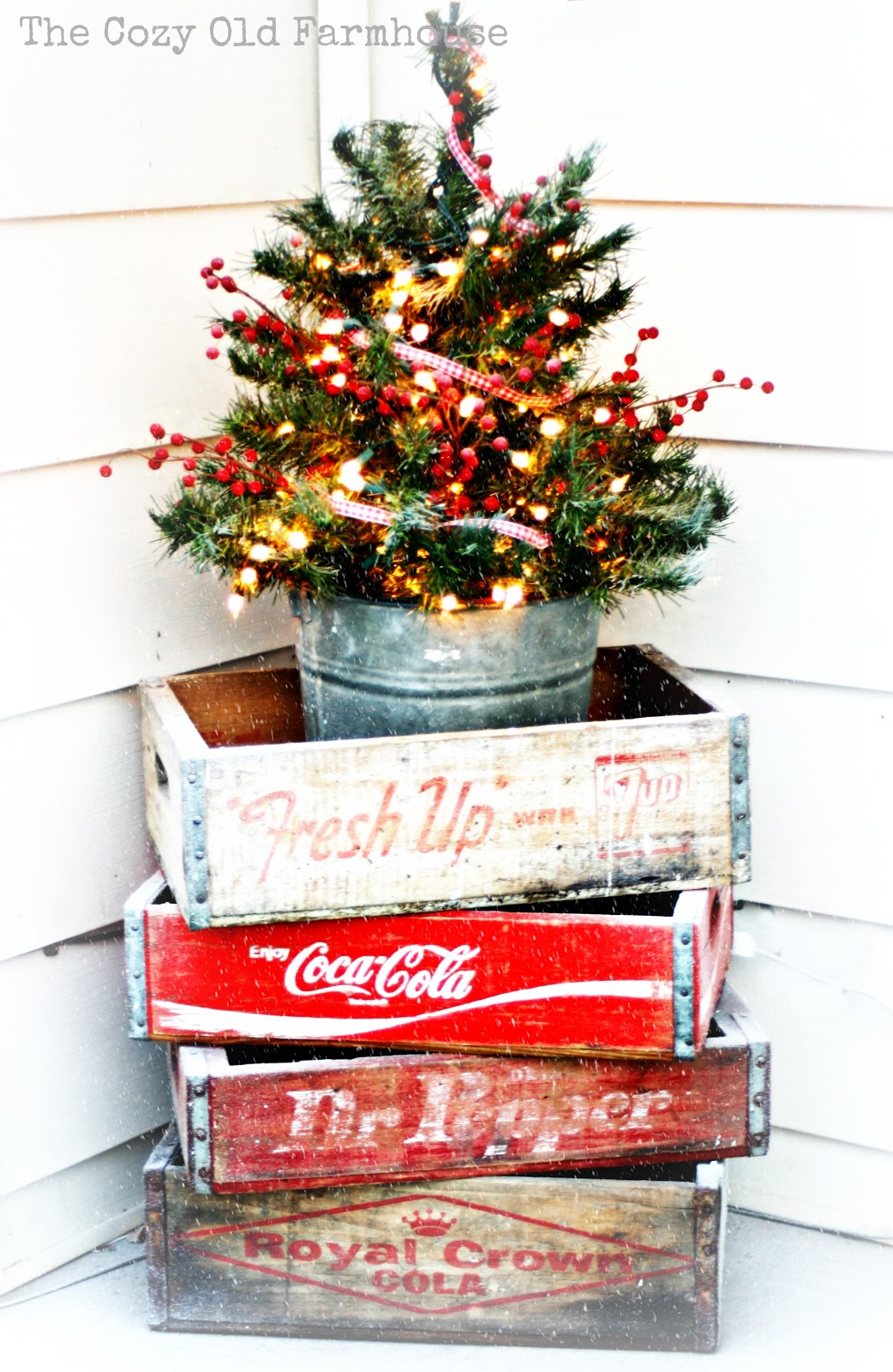 "The Cozy Old ""Farmhouse"" A ""Junky"" Christmas Porch"