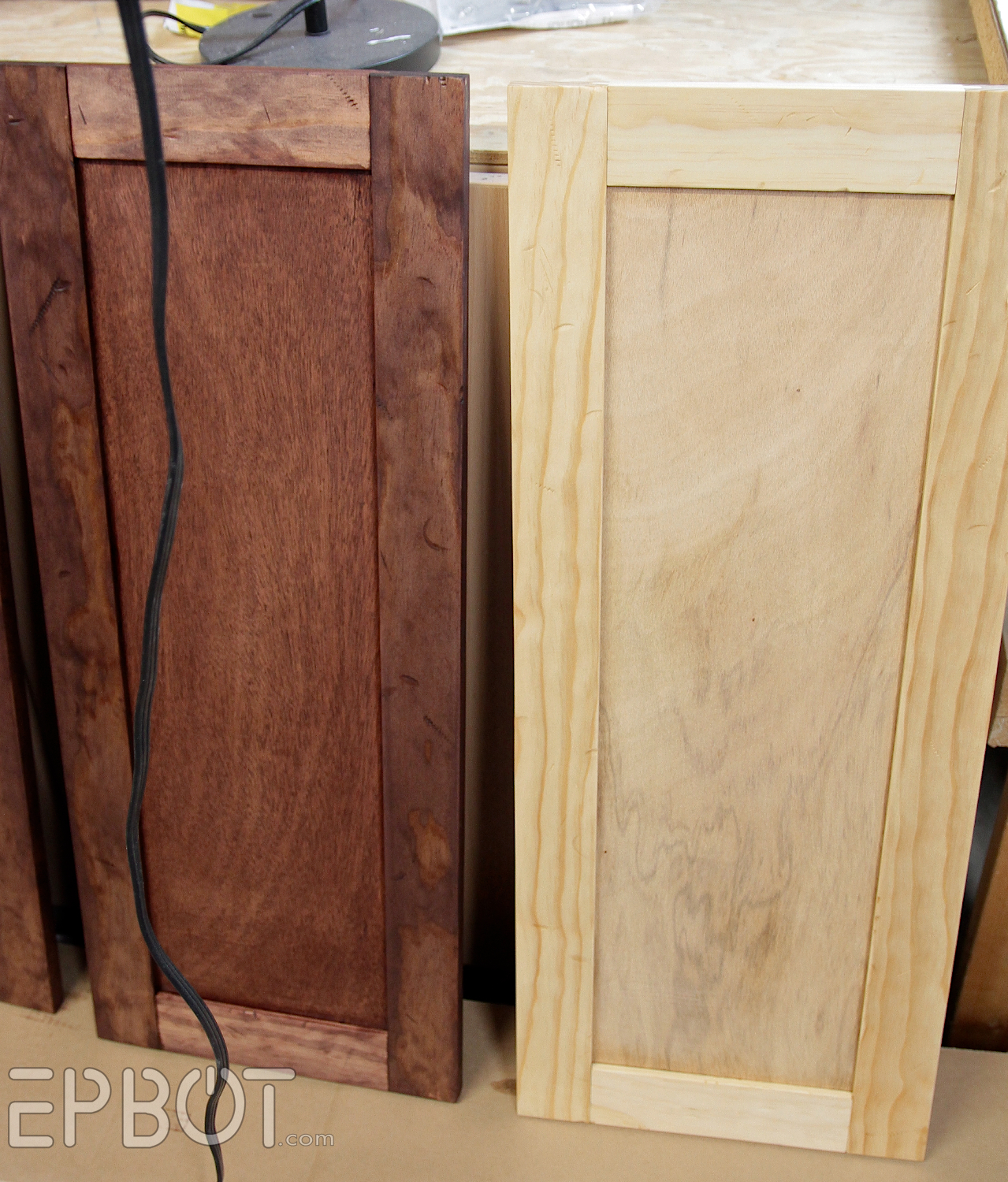 how to build cabinet doors from wood