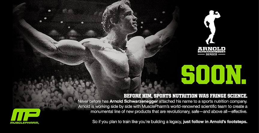 Arnold Schwarzenegger Series. Foto: Muscle Pharm