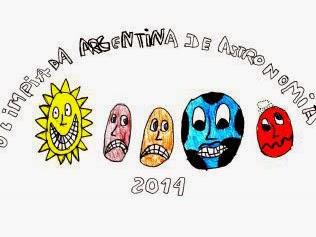 El logo de la edición 2014: dibujo del sol y los planetas Mercurio, Venus, Tierra y Marte.