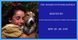 Participant in the Animals in Film Blogathon  May 26 -28th