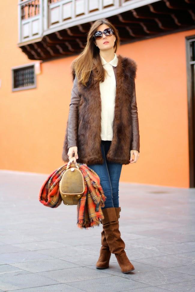 Fur Vest Fashion Tumblr