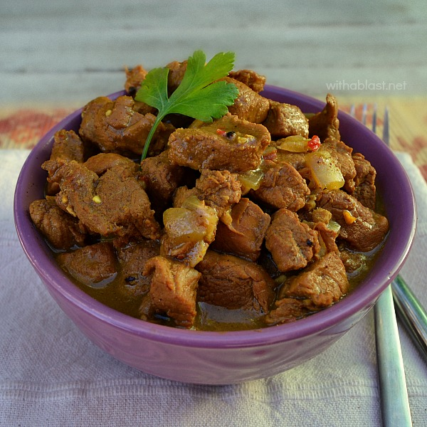 Spicy, tender, juicy and ever so comforting Pork Vindaloo - must have recipe for the cold evenings